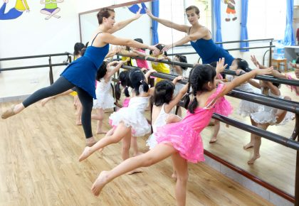 Ballet class at our Van Phuc campus