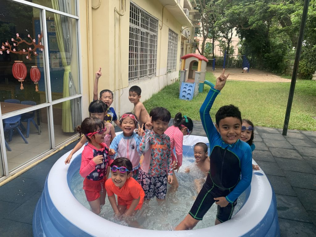 Swimming pool fun at Morning Star International Schol