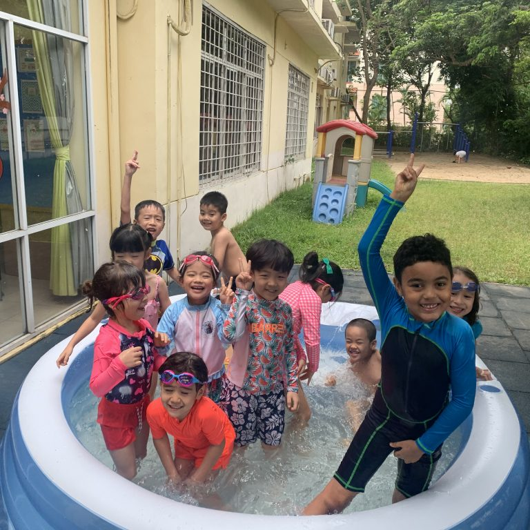 Swimming pool fun at Morning Star International Schol